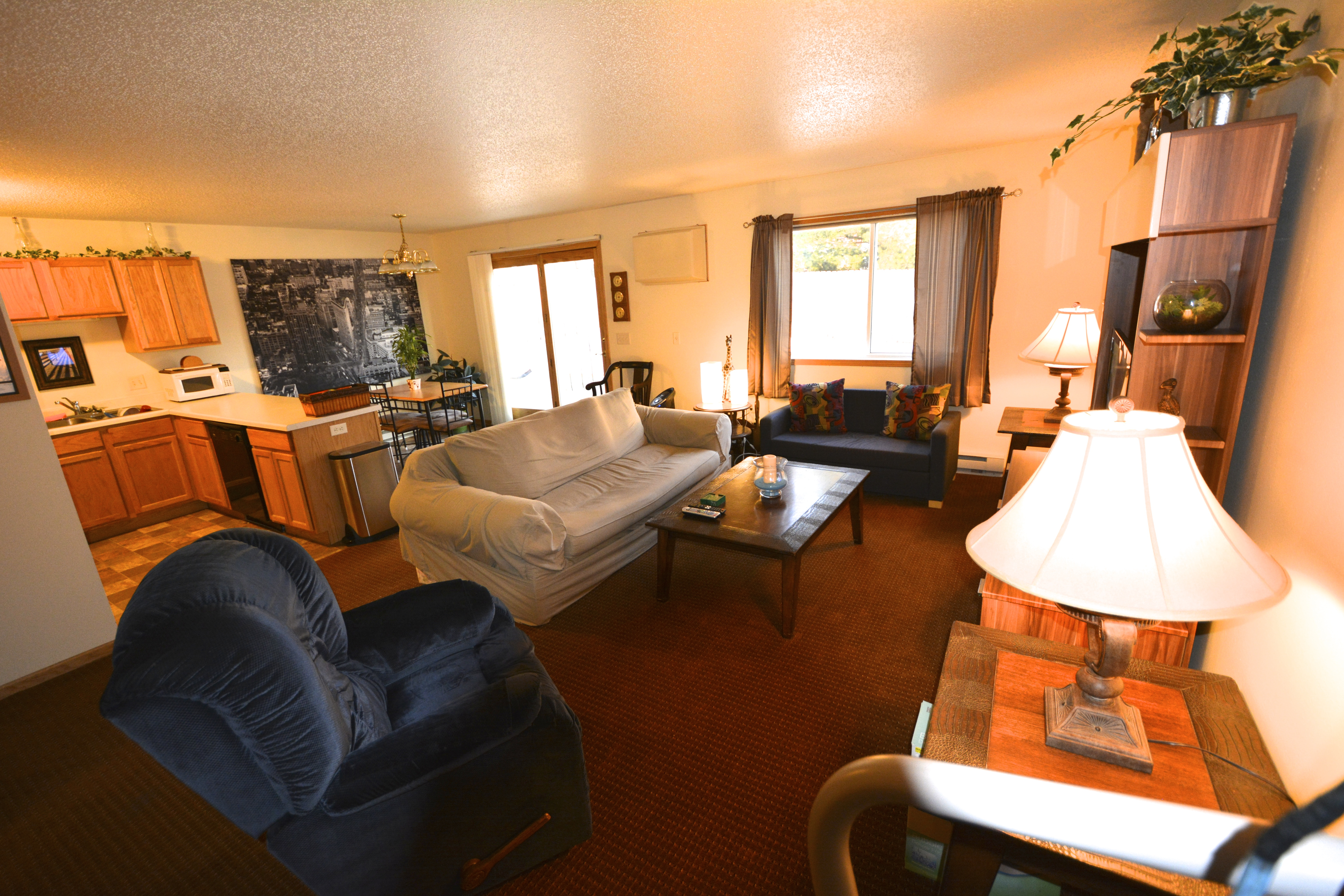 Living Area with Lots of Space  3 bedroom rental. Apartment for Rent in Menomonie WI Student Rental UW Stout